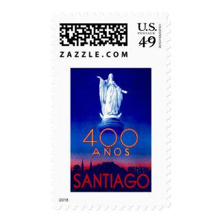 Santiago de Chile Vintage Travel Stamps