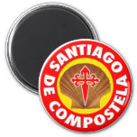 Santiago de Compostela 2 Inch Round Magnet