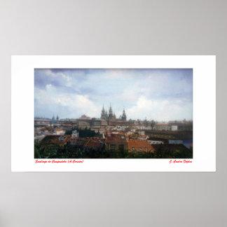 Santiago de Compostela (A Coruña) Póster