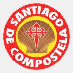 Santiago de Compostela Pegatinas Redondas