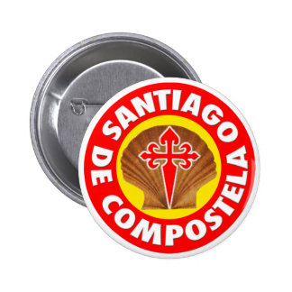 Santiago de Compostela Pin Redondo 5 Cm