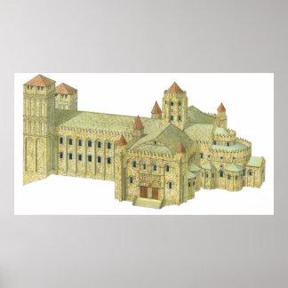 Santiago de Compostela Romanesque Cathedral. Poster