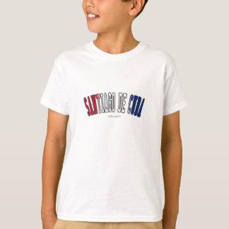 Santiago de Cuba in Cuba national flag colors T-Shirt