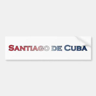 Santiago de Cuba Text Logo Bumper Sticker
