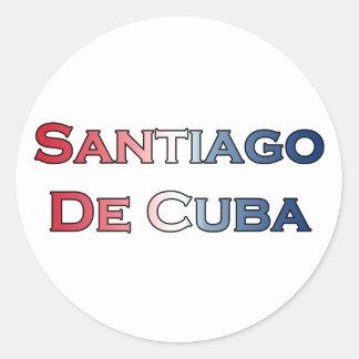 Santiago de Cuba Text Logo Round Sticker