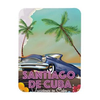Santiago de Cuba Vintage travel poster Magnet