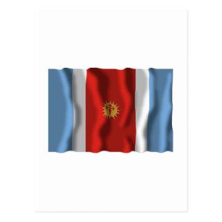 Santiago del Estero waving flag Postcard