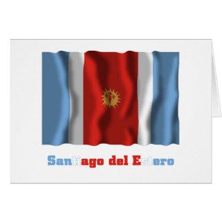 Santiago del Estero waving flag with name Card
