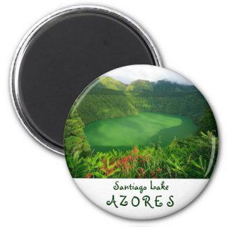 Santiago Lake, Azores 2 Inch Round Magnet
