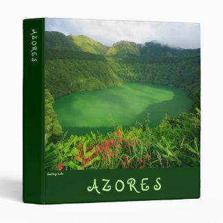 Santiago Lake, Azores 3 Ring Binder