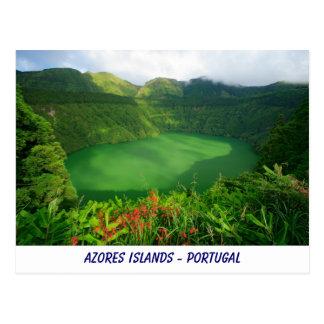 Santiago Lake, Azores Post Card