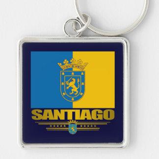Santiago Llavero Cuadrado Plateado