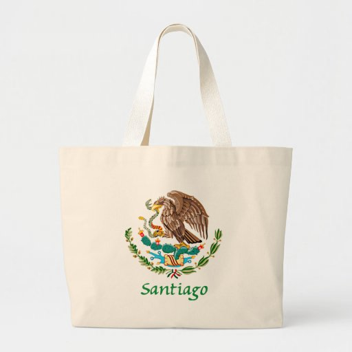 Santiago Mexican National Seal Large Tote Bag