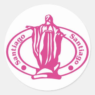 Santiago Stamp Classic Round Sticker