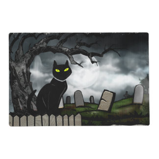 Santifica el cementerio Halloween Tapete Individual