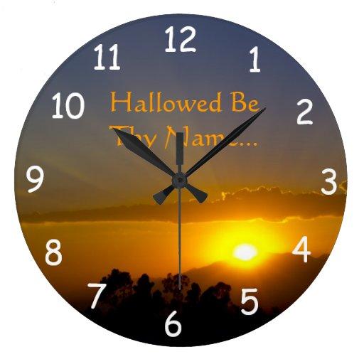 Santificado sea Thy nombre 2 Reloj Redondo Grande