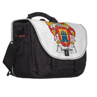 Santillan Family Crest Bag For Laptop