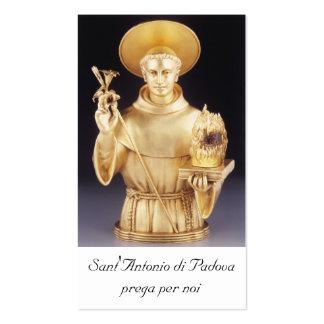 Santino de Sant Antonio - tarjeta santa de St Anth Tarjetas De Negocios