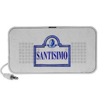 Santísimo, placa de calle de Granada iPod Altavoz