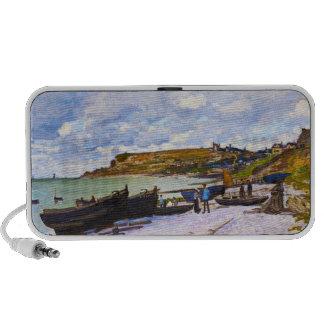 Santo-Adresse barcos de pesca en la orilla Monet iPod Altavoz