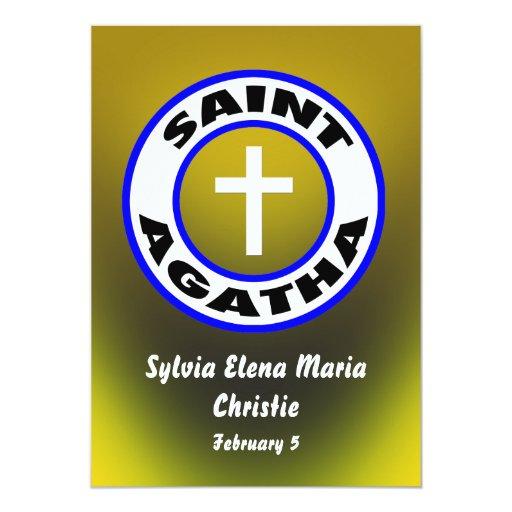 Santo Agatha Invitación 12,7 X 17,8 Cm