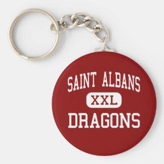 Santo Albans - dragones - alto - santo Albans Llavero Redondo Tipo Pin