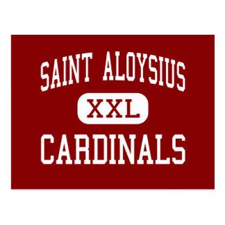 Santo Aloysius - cardenales - alto - Jersey City Postales