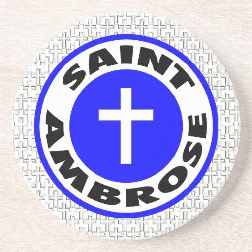 Santo Ambrose Posavasos Manualidades