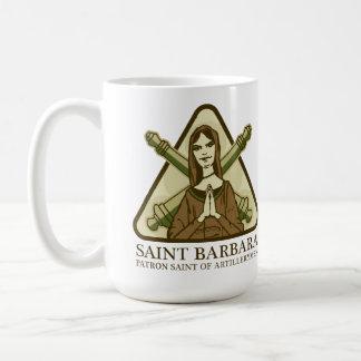Santo Barbara, santo patrón de artilleros Taza Clásica