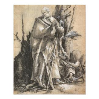 Santo barbudo en un bosque de Albrecht Durer Foto