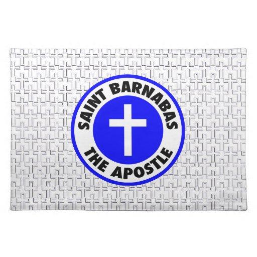 Santo Barnabas el apóstol Mantel Individual