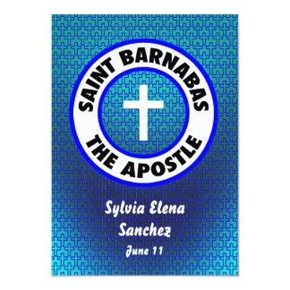 """Santo Barnabas que el apóstol invita Invitación 5"""" X 7"""""""