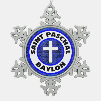 Santo Baylon pascual Adorno De Peltre En Forma De Copo De Nieve