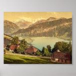 Santo Beatenberg, Bernese Oberland, cl de Suiza Poster