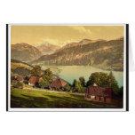 Santo Beatenberg, Bernese Oberland, cl de Suiza Tarjetón