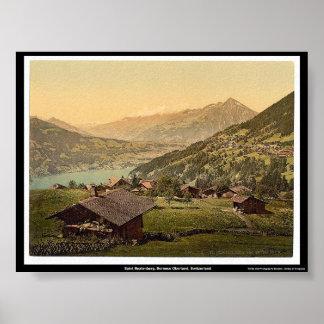 Santo Beatenberg, Bernese Oberland, Suiza Póster