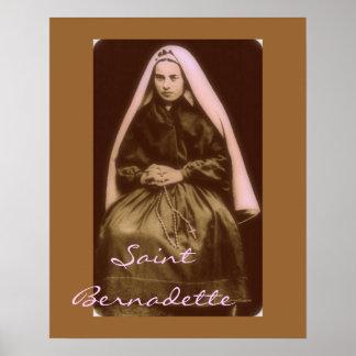 santo Bernadette Póster