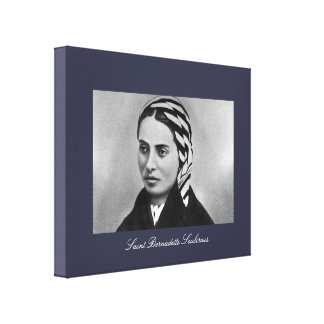 Santo Bernadette Soubirous Lienzo Envuelto Para Galerías