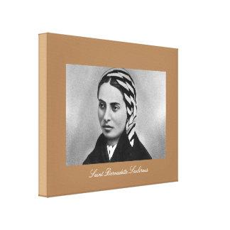 Santo Bernadette Soubirous Lona Envuelta Para Galerias