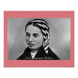Santo Bernadette Soubirous Póster