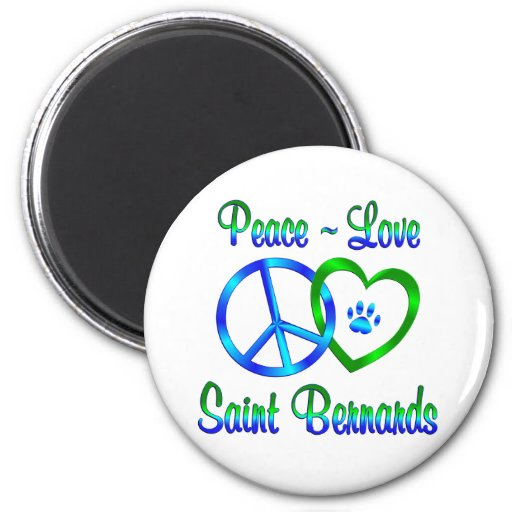 Santo Bernards del amor de la paz Imán De Nevera