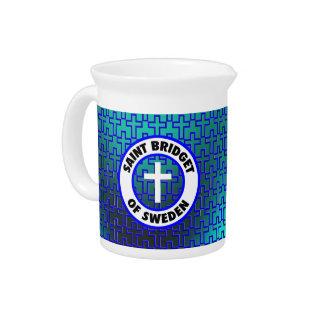 Santo Bridget de Suecia Jarra Para Bebida