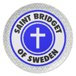 Santo Bridget de Suecia Plato