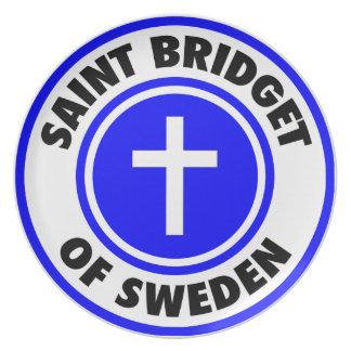 Santo Bridget de Suecia Plato De Comida
