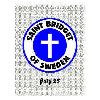 Santo Bridget de Suecia Tarjetas Postales