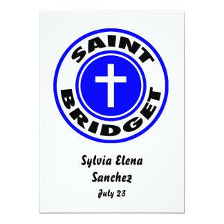 Santo Bridget Invitación 12,7 X 17,8 Cm