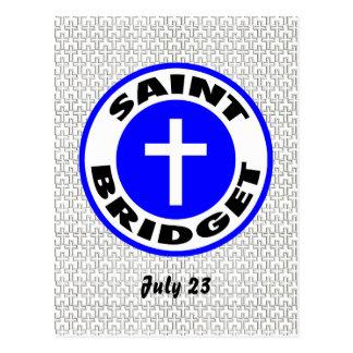 Santo Bridget Tarjetas Postales