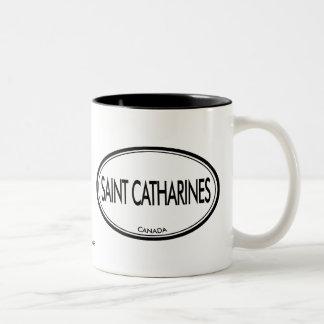 Santo Catharines, Canadá Taza De Dos Tonos