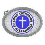 Santo Catherine de Alexandría Hebilla Cinturon Oval