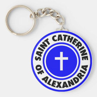 Santo Catherine de Alexandría Llavero Redondo Tipo Pin